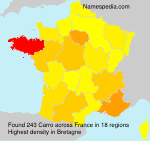 Surname Carro in France