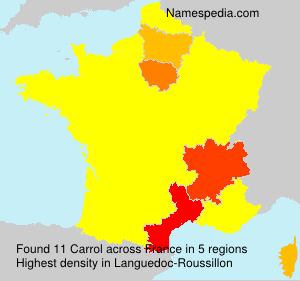 Surname Carrol in France