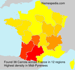 Surname Carrola in France