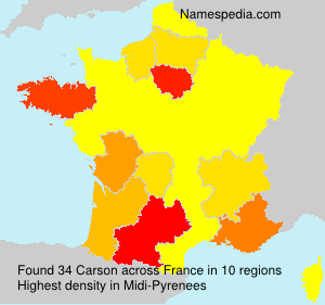 Surname Carson in France