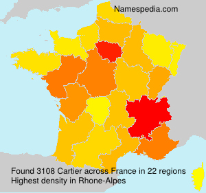 Surname Cartier in France