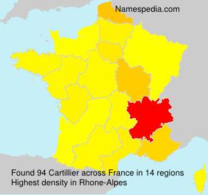 Surname Cartillier in France