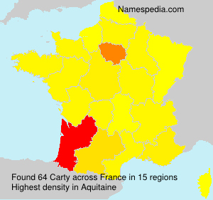 Surname Carty in France