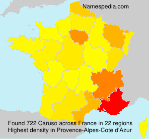 Surname Caruso in France