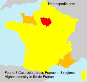 Surname Casaccia in France