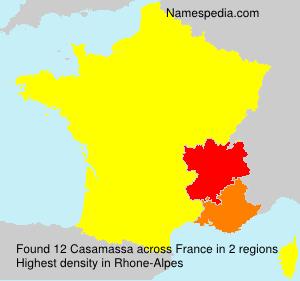 Surname Casamassa in France