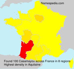 Familiennamen Casamayou - France