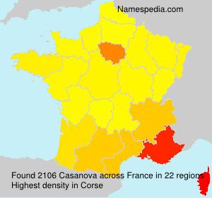 Surname Casanova in France