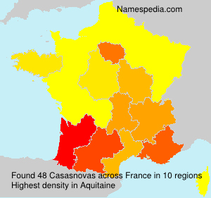 Surname Casasnovas in France