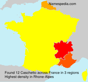 Surname Caschetto in France