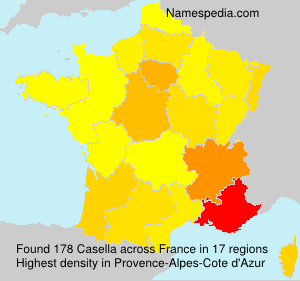Surname Casella in France