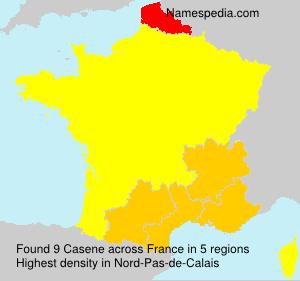 Surname Casene in France
