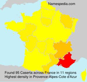 Surname Caserta in France