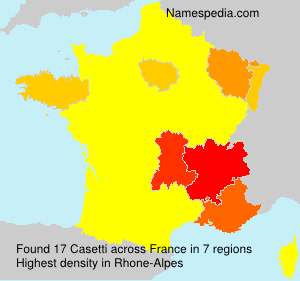 Surname Casetti in France