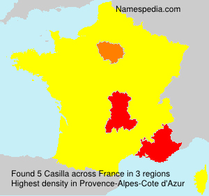 Surname Casilla in France