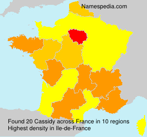 Surname Cassidy in France