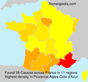 Surname Cassisa in France