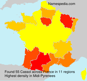 Surname Cassol in France