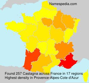 Surname Castagna in France
