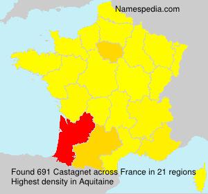 Surname Castagnet in France