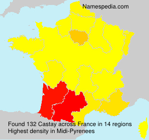 Surname Castay in France