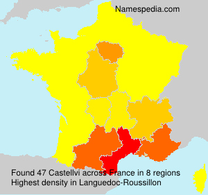 Surname Castellvi in France