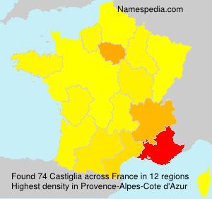 Surname Castiglia in France