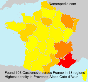 Familiennamen Castronovo - France