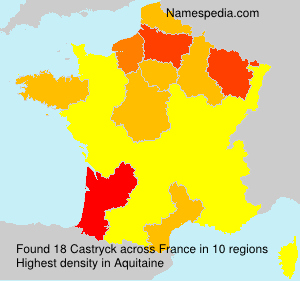 Surname Castryck in France