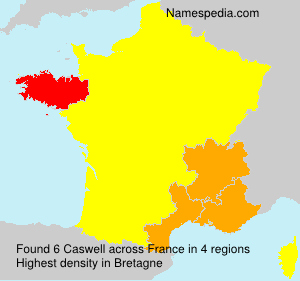 Surname Caswell in France