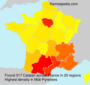 Surname Catalan in France