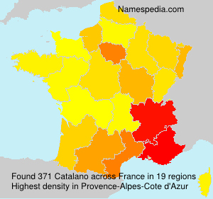 Surname Catalano in France