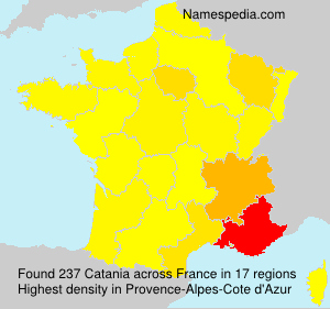 Surname Catania in France