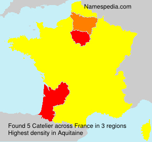 Surname Catelier in France