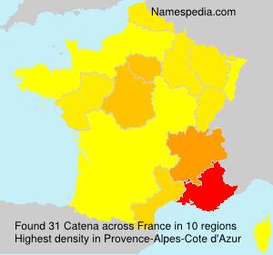 Familiennamen Catena - France