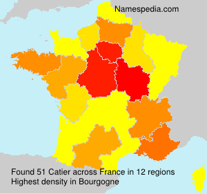 Surname Catier in France