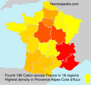 Surname Caton in France