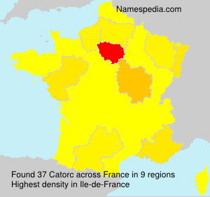 Surname Catorc in France