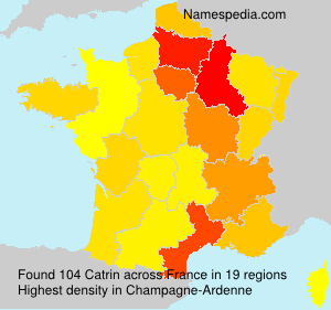 Surname Catrin in France