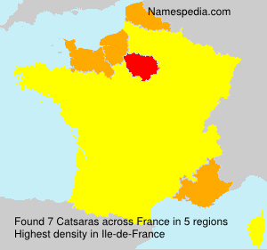 Surname Catsaras in France