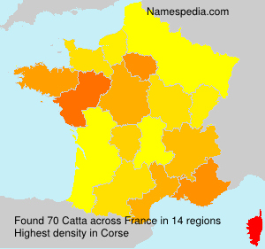 Surname Catta in France