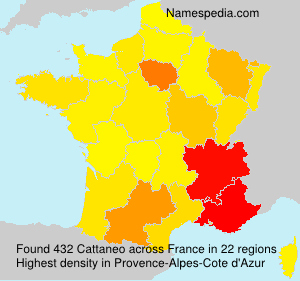 Surname Cattaneo in France