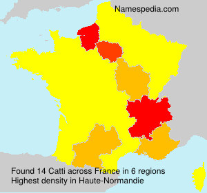 Surname Catti in France