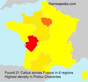 Surname Cattus in France