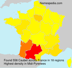 Surname Caubet in France