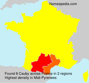 Surname Cauby in France