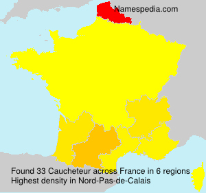 Surname Caucheteur in France