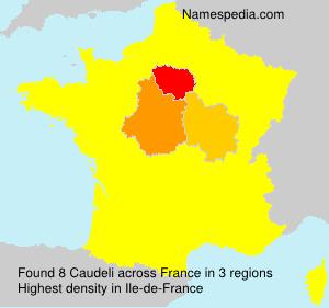Familiennamen Caudeli - France