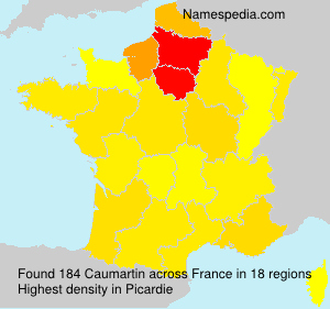 Surname Caumartin in France