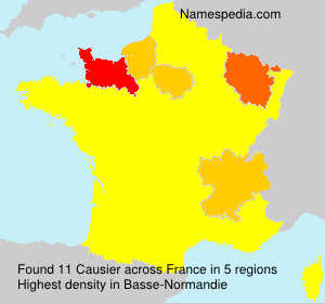 Surname Causier in France